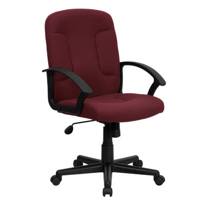 Mid-Back Fabric Executive Swivel Chair with NylonArms