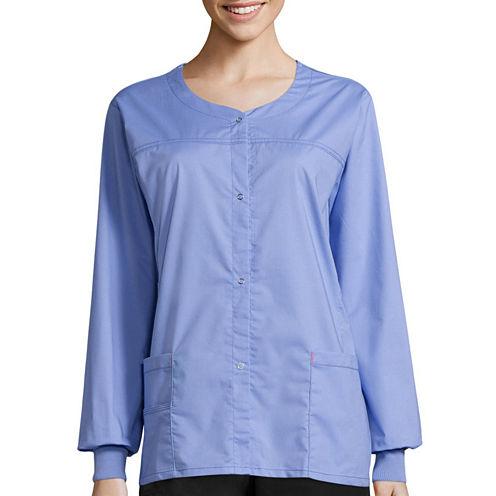 WonderWink® Womens Constance Snap-Front Jacket - Plus