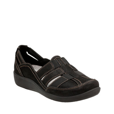 Clarks Womens Sillian Stork Slip-On Shoe Closed Toe