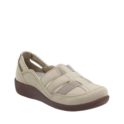 Clarks Womens Sillian Stork Slip-On Shoes Closed Toe
