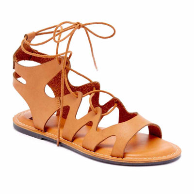 N.Y.L.A Womens Suzoee Adjustable Strap Flat Sandals