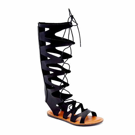N.Y.L.A Womens Susanna Adjustable Strap Gladiator Sandals