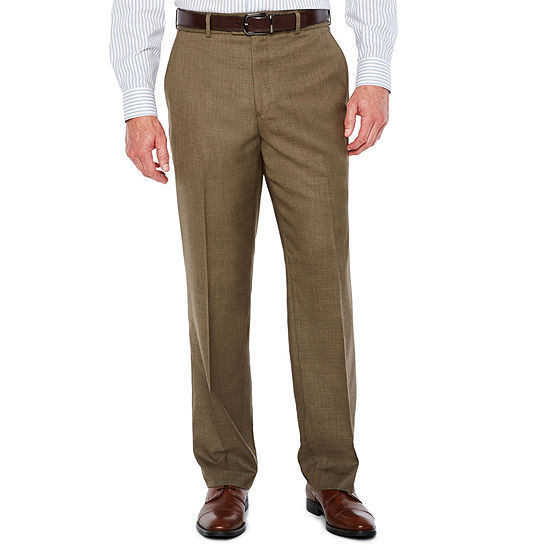 Stafford Mens Sharkskin Classic Fit Flat Front Pant