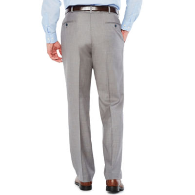 Stafford Classic Fit Flat Front Pants