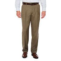 Stafford Sharkskin Stretch Pleated Pants Classic Fit Deals