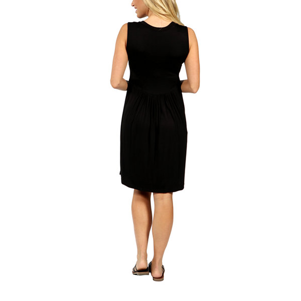 24/7 Comfort Apparel Hourglass Empire Waist Dress-Plus Maternity