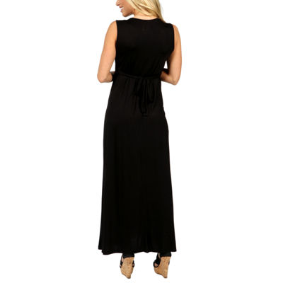 24/7 Comfort Apparel Island Fire Maxi Dress-Maternity