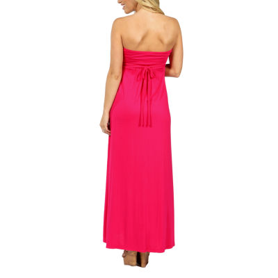 24/7 Comfort Apparel Stop And Stare Maxi Dress-Maternity