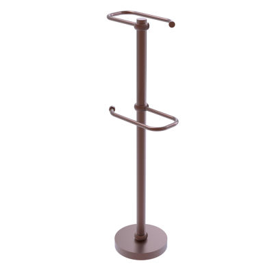 Allied Brass Free Standing Two Roll Toilet TissueStand