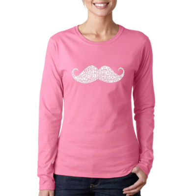 Los Angeles Pop Art Ways To Style A Moustache Long Sleeve Graphic T-Shirt
