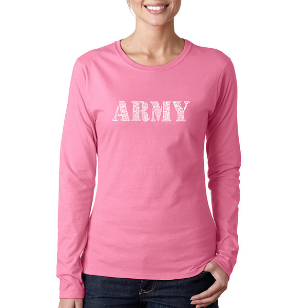 Los Angeles Pop Art Lyrics To The Army Song Long Sleeve Graphic T-Shirt