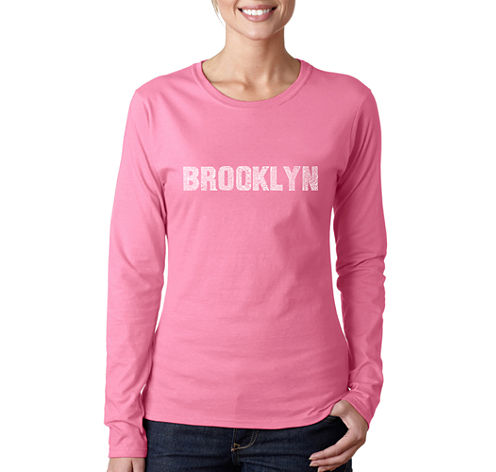 Los Angeles Pop Art Brooklyn Neighborhoods Long Sleeve Graphic T-Shirt