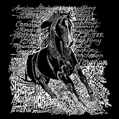 Los Angeles Pop Art Popular Horse Breeds Graphic T-Shirt