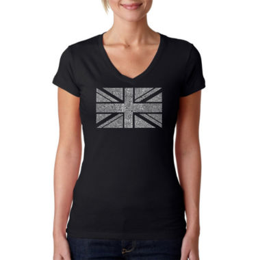 Los Angeles Pop Art Union Jack Graphic T-Shirt