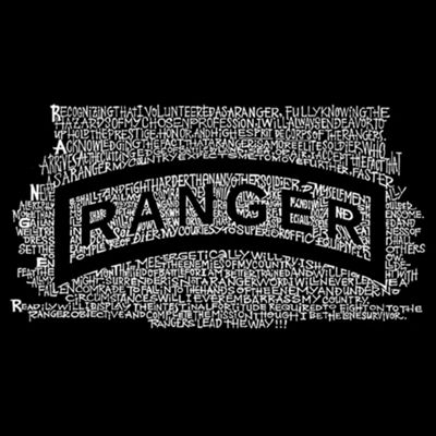 Los Angeles Pop Art The Us Ranger Creed Graphic T-Shirt