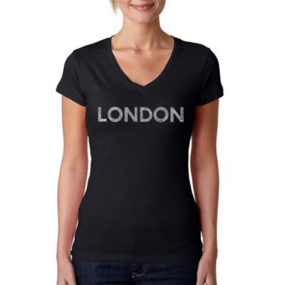 Los Angeles Pop Art London Neighborhoods Graphic T-Shirt