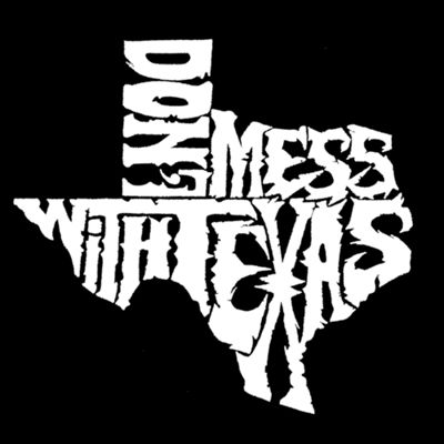 Los Angeles Pop Art Dont Mess With Texas Graphic T-Shirt