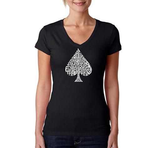 Los Angeles Pop Art Order Of Winning Poker Hands Graphic T-Shirt