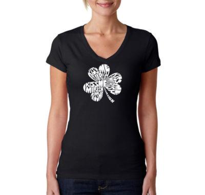 Los Angeles Pop Art Kiss Me Im Irish Graphic T-Shirt