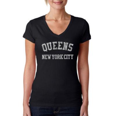 Los Angeles Pop Art Popular Neighborhoods In Queens Ny Graphic T-Shirt