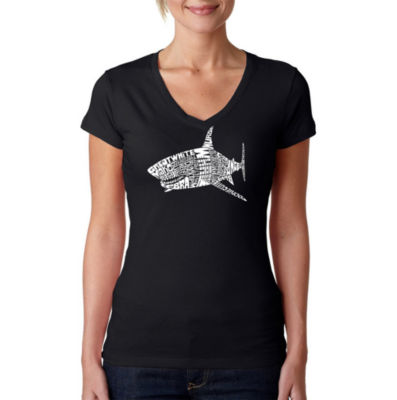 Los Angeles Pop Art Species Of Shark Graphic T-Shirt