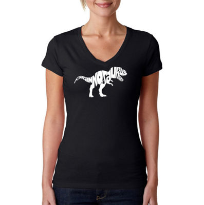 Los Angeles Pop Art Tyrannosaurus Rex Womens Graphic T-Shirt