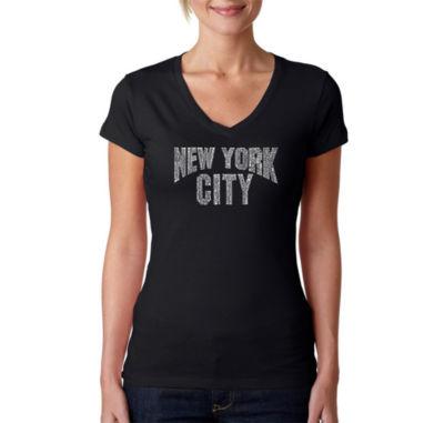 Los Angeles Pop Art Nyc Neighborhoods Graphic T-Shirt
