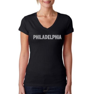 Los Angeles Pop Art Philadelphia Neighborhoods Graphic T-Shirt