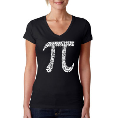 Los Angeles Pop Art The First 100 Digits Of Pi Graphic T-Shirt