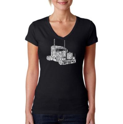 Los Angeles Pop Art Keep On Truckin Graphic T-Shirt