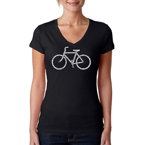 Los Angeles Pop Art Save A Planet Ride A Bike Graphic T-Shirt