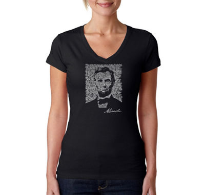 Los Angeles Pop Art Abraham Lincoln - Gettysburg Address Graphic T-Shirt