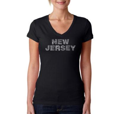 Los Angeles Pop Art New Jersey Neighborhoods Graphic T-Shirt