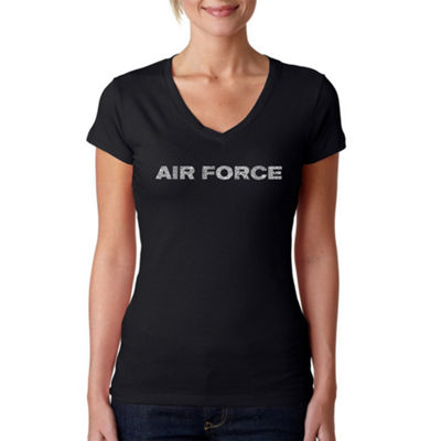Los Angeles Pop Art Lyrics To The Air Force Song Graphic T-Shirt