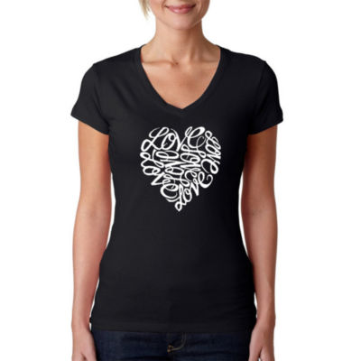 Los Angeles Pop Art Love Graphic T-Shirt