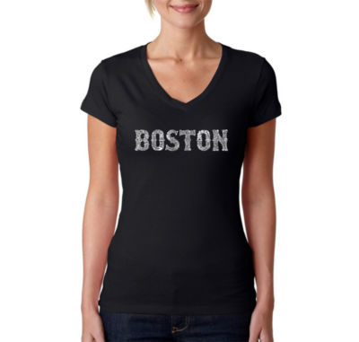 Los Angeles Pop Art Boston Neighborhoods Graphic T-Shirt