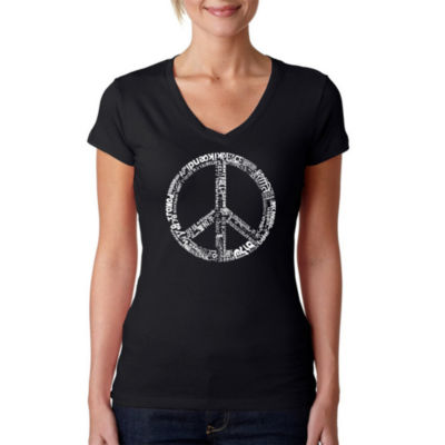 Los Angeles Pop Art The Word Peace In 77 LanguagesGraphic T-Shirt