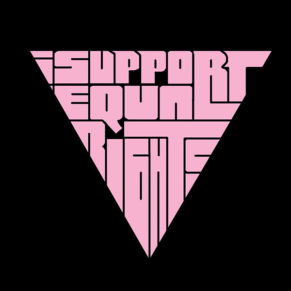 Los Angeles Pop Art I Support Equal Rights Graphic T-Shirt
