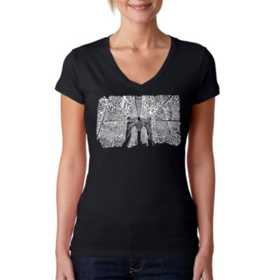 Los Angeles Pop Art Brooklyn Bridge Graphic T-Shirt