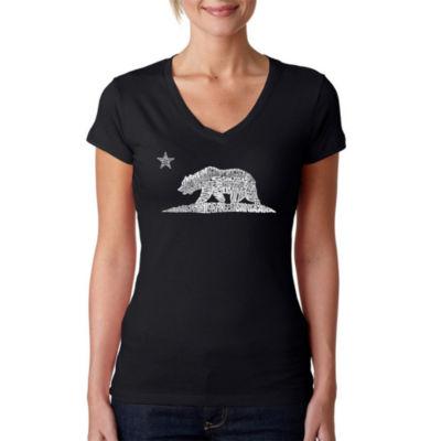 Los Angeles Pop Art California Bear Graphic T-Shirt