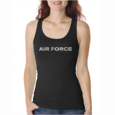 Los Angeles Pop Art Lyrics To The Air Force Song Tank Top