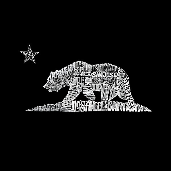 Los Angeles Pop Art California Bear Tank Top