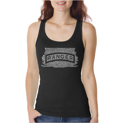 Los Angeles Pop Art The Us Ranger Creed Womens Tank Top