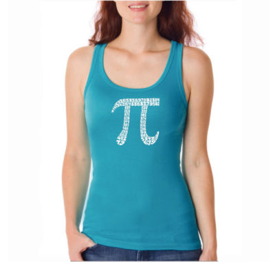 Los Angeles Pop Art The First 100 Digits Of Pi Tank Top