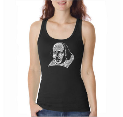 Los Angeles Pop Art The Titles Of All Of William Shakespeares Comedies & Tragedies Womens Tank Top