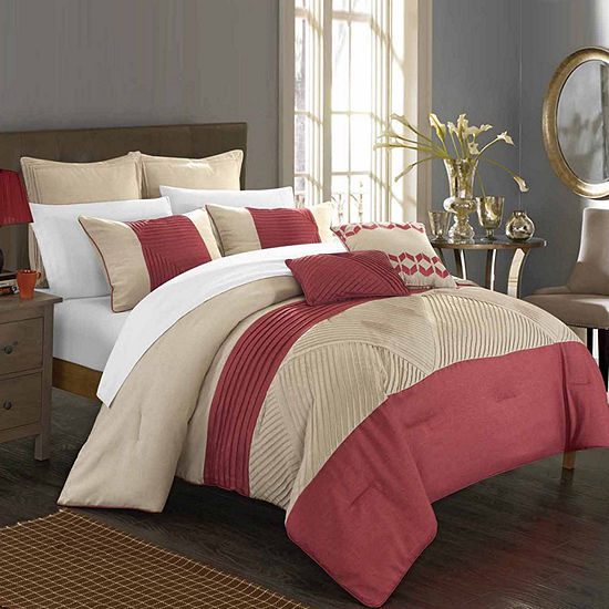 Chic Home Marbella 7-pc. Midweight Embroidered Comforter Set