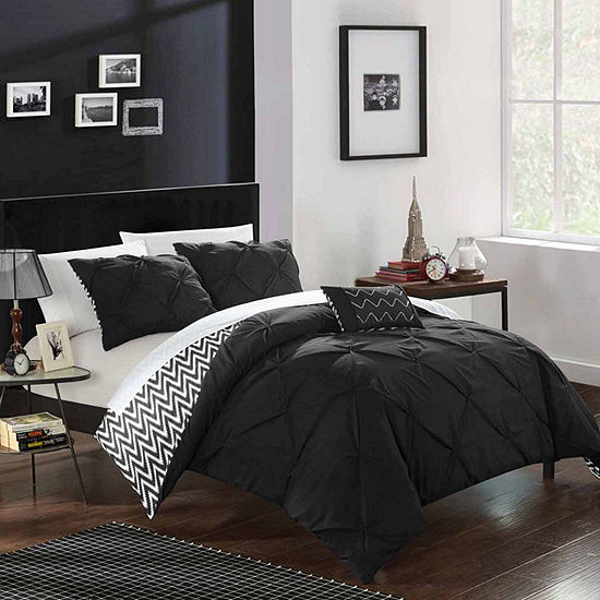 Chic Home Jacky Midweight Reversible Comforter Set Jcpenney