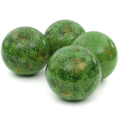 "Oriental Furniture 4"" Sponged Green Porcelain Decorative Balls"