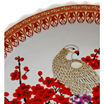 "Oriental Furniture 14"" Cherry Blossom Porcelain Decorative Plate"