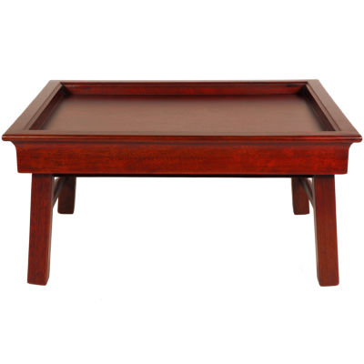 Oriental Furniture Rosewood Tea Decorative Tray